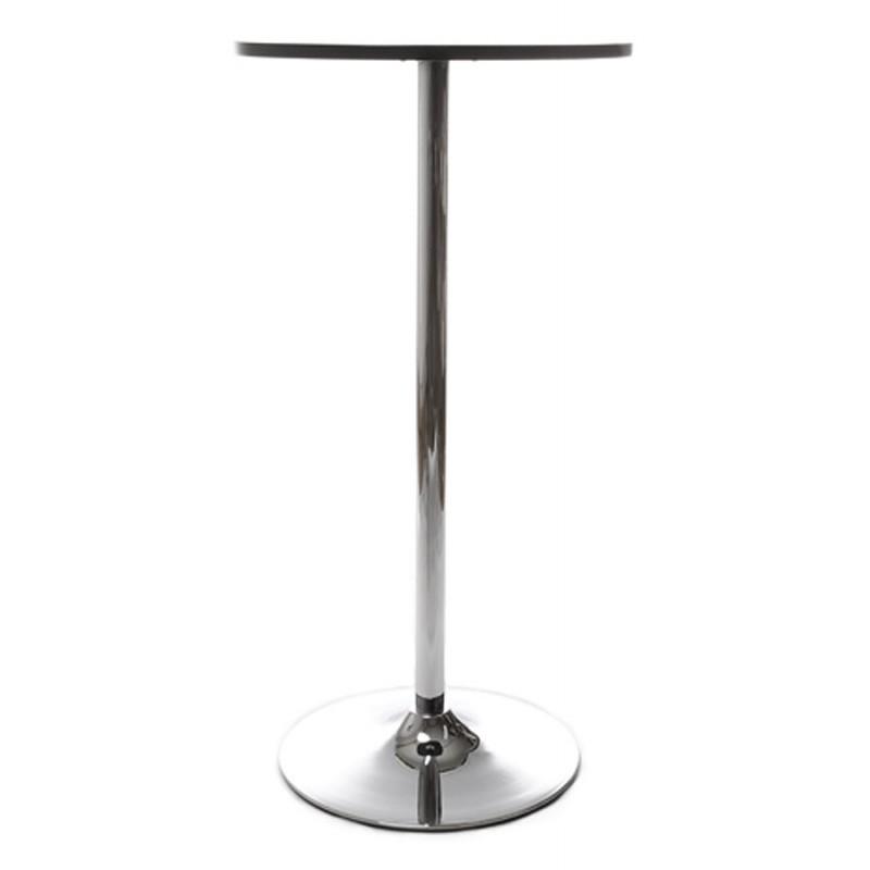 Table haute d'appoint BALEARE en bois et métal chromé (Ø 60 cm) (noir) - image 19813