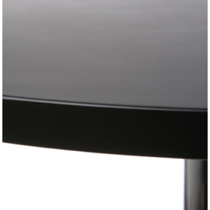 table haute d 39 appoint baleare en bois et m tal chrom. Black Bedroom Furniture Sets. Home Design Ideas