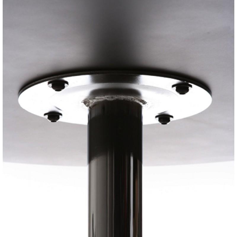 Table haute d'appoint BALEARE en bois et métal chromé (Ø 60 cm) (noir) - image 19817