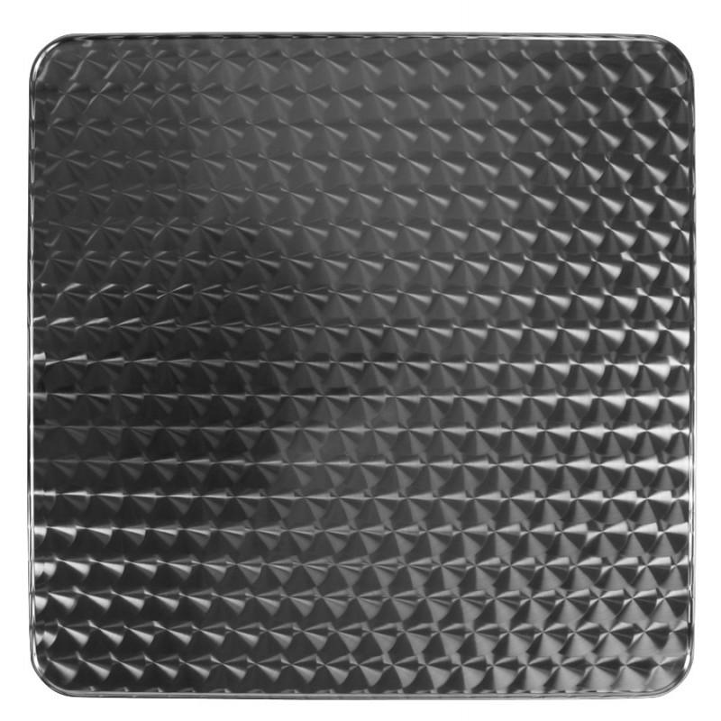 Plateau de table carré ANIS en bois et acier inoxydable (60X60X2cm) - image 19826