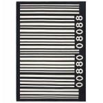 Zeitgenössische Teppiche große rechteckige BARCODE Modell (160 X 230) (schwarz, weiß)