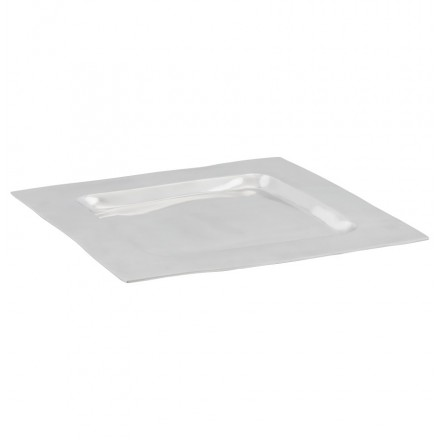 Centre de table SPIRIT carré en aluminium (aluminium)
