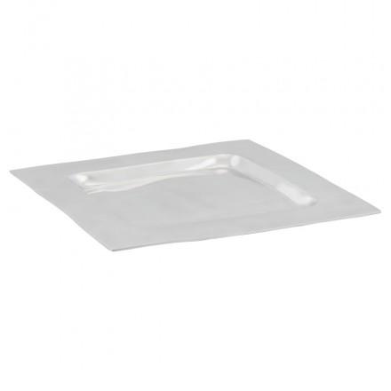 Tischmitte SPIRIT quadratische Alu (Aluminium)