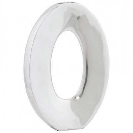 Aluminio de florero contemporáneo ŒUF (aluminio)