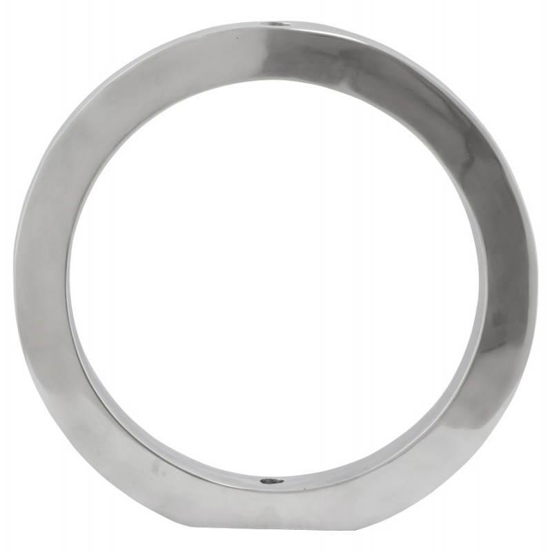 Original Jarrón FLORERO de aluminio pulido (aluminio) - image 20172