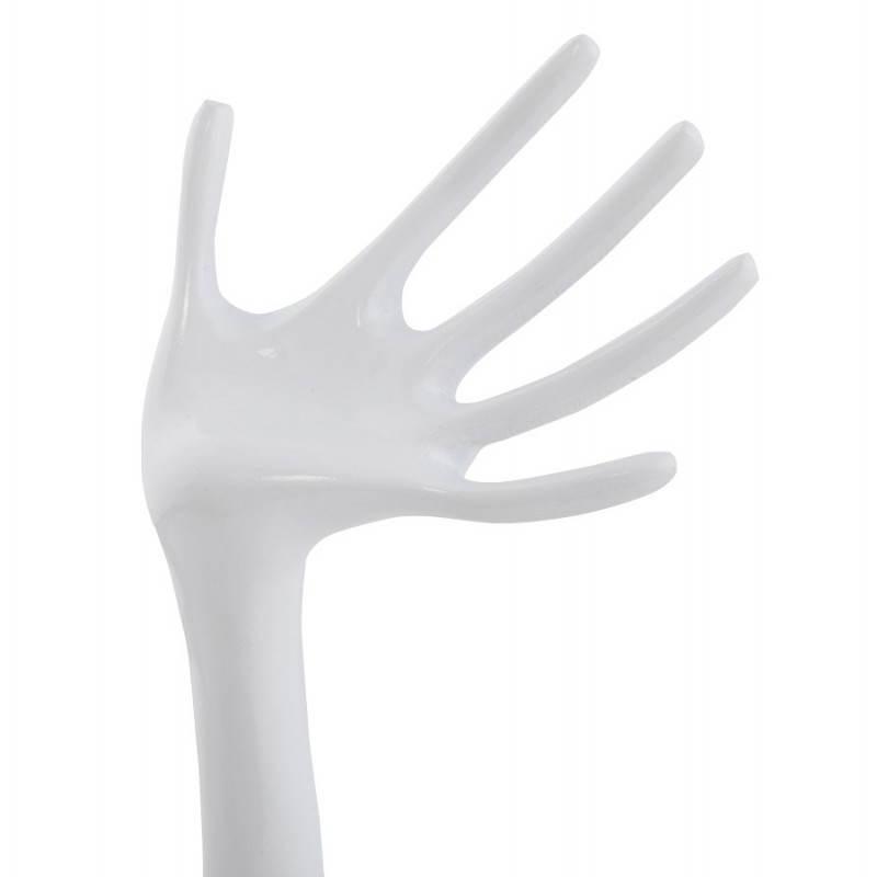 Trägt Schmuck Hände FANY (weiß) poliert Aluminium - image 20195