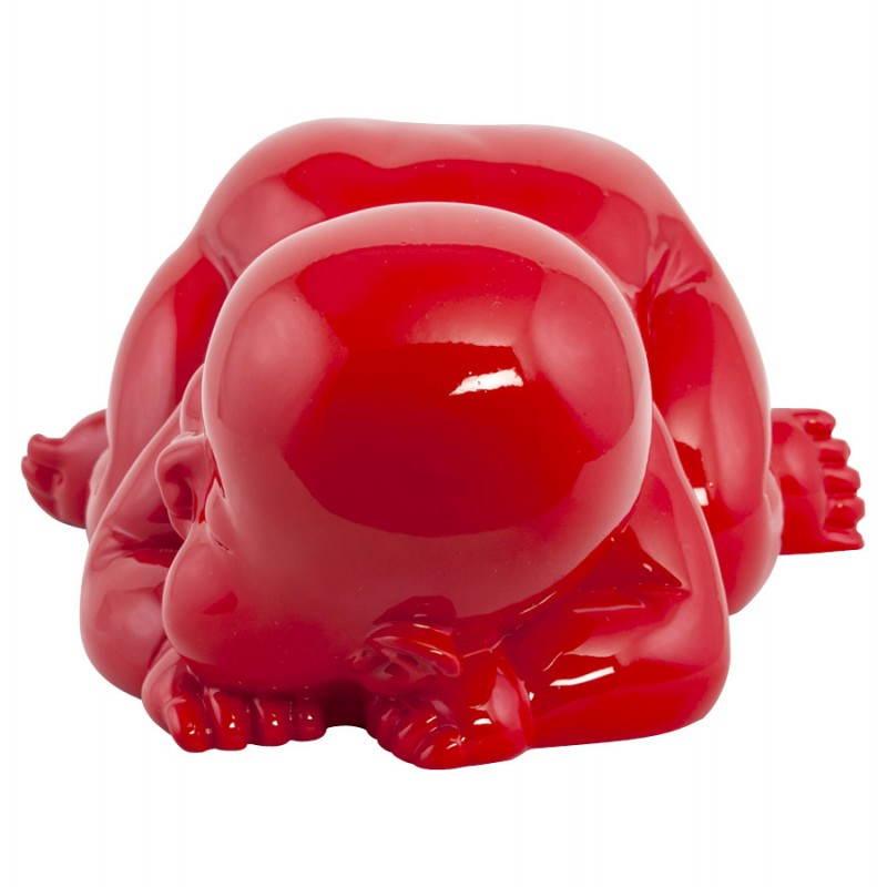 Figura forma mentira a bebé de fibra de vidrio de LAURE (rojo) - image 20207