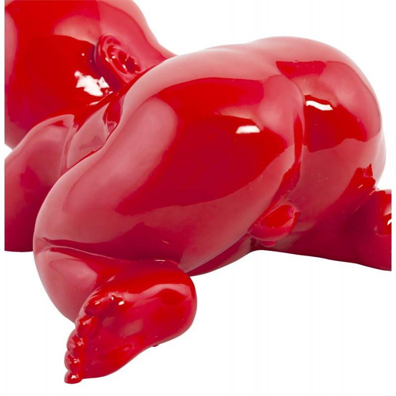 Figura forma mentira a bebé de fibra de vidrio de LAURE (rojo) - image 20212