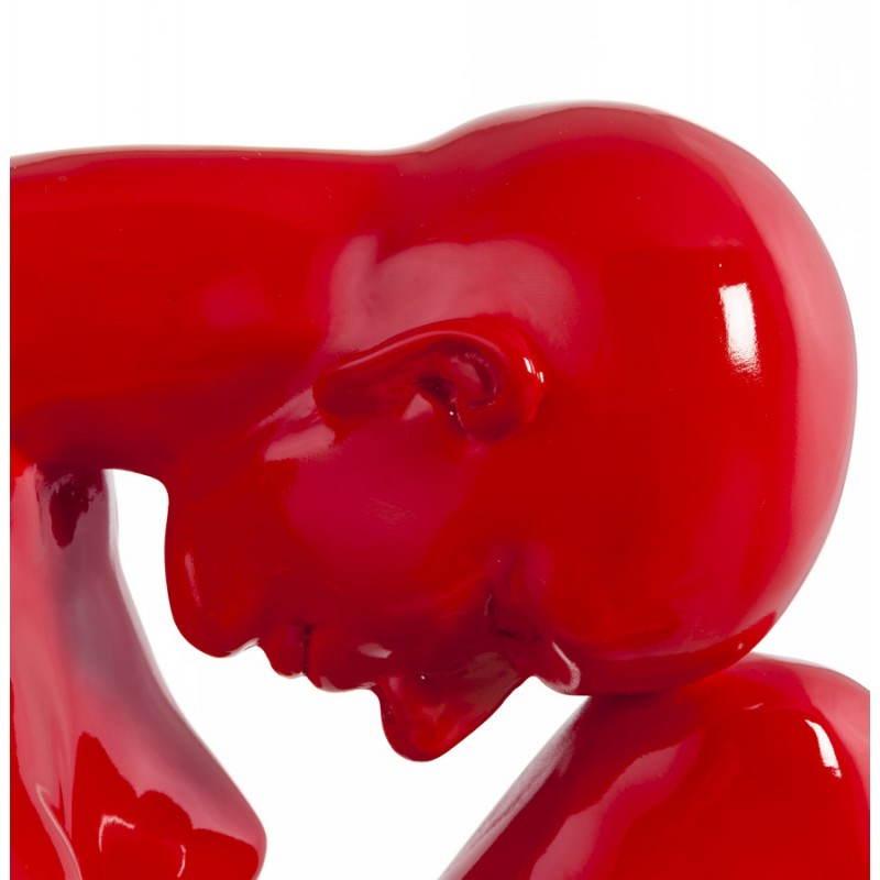 Statue-Form denken BIMBO -Glasfaser (rot) - image 20257