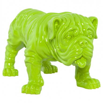 Statuelle-shaped dog LOUME fiberglass (green)