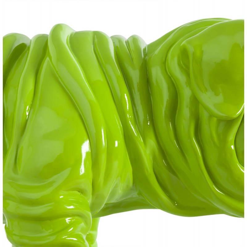 Cane a forma di Statuelle LOUME in fibra di vetro (verde) - image 20266