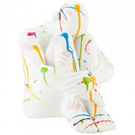 Hombre estatua con fibra de vidrio MAXOU (multicolor)
