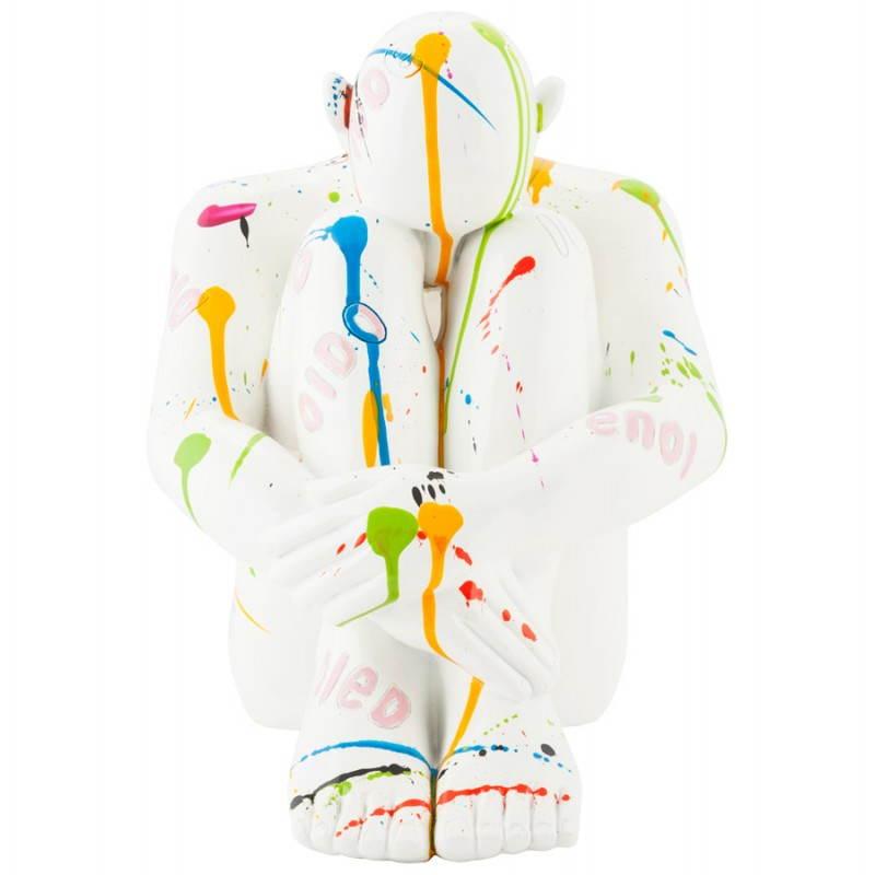 Hombre estatua con fibra de vidrio MAXOU (multicolor) - image 20284