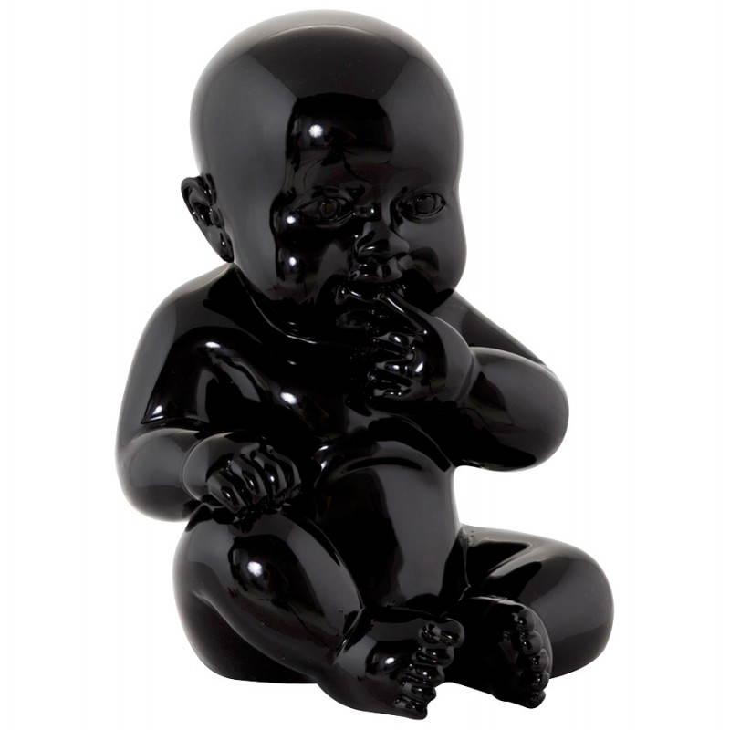 Statuetta forma bambino KISSOUS in fibra di vetro (nero)
