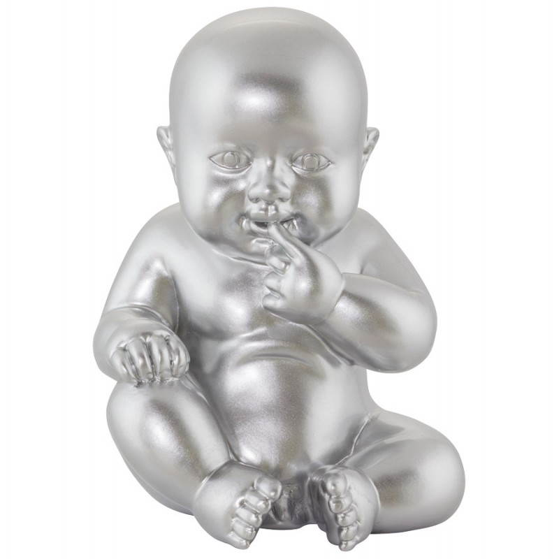 Statuette forme bébé KISSOUS en fibre de verre (aluminium) - image 20311