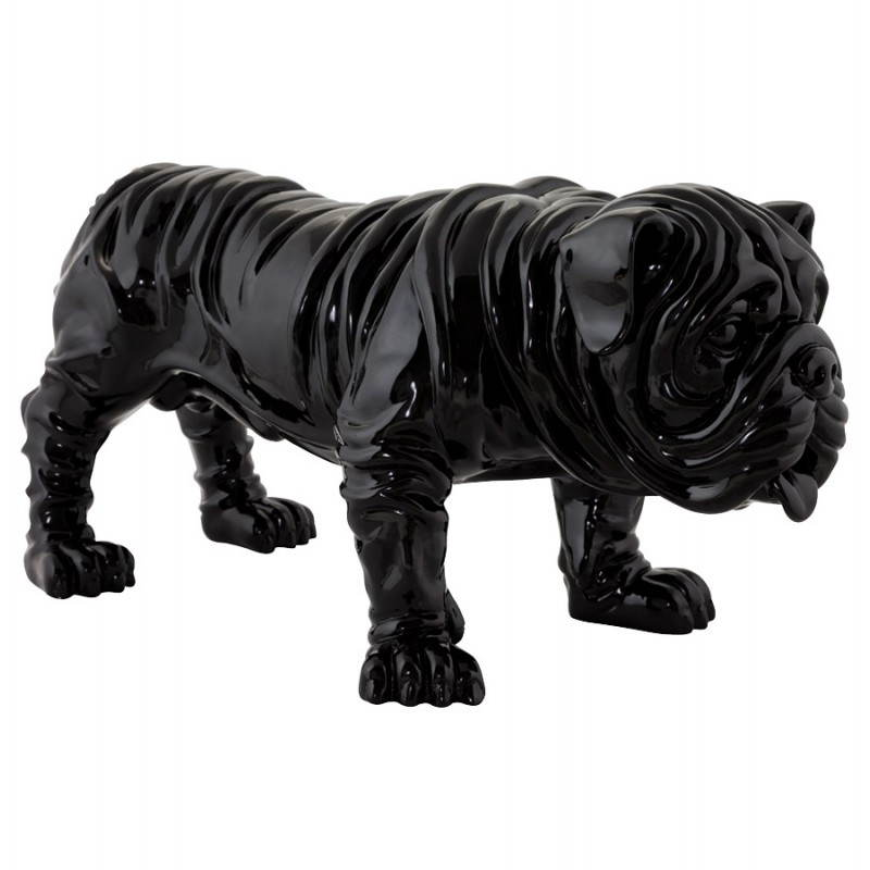 Statuelle dog form OUPS glass fiber (black) - image 20316