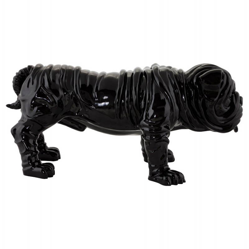 Statuelle dog form OUPS glass fiber (black) - image 20318