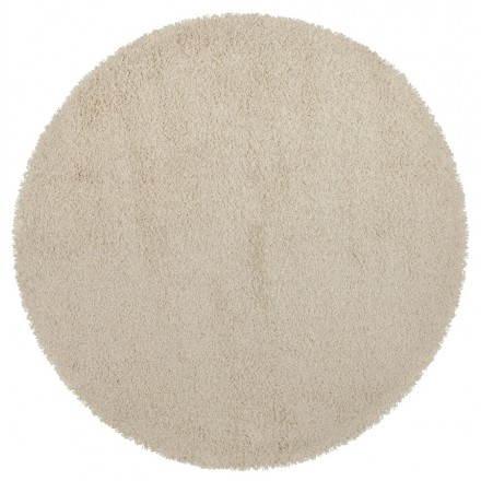 Tapis contemporain et design MIKE rond grand modèle (Ø 200 cm) (crème)