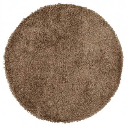 Contemporary rugs and design model large round MIKE (Ø 200 cm) (Brown)