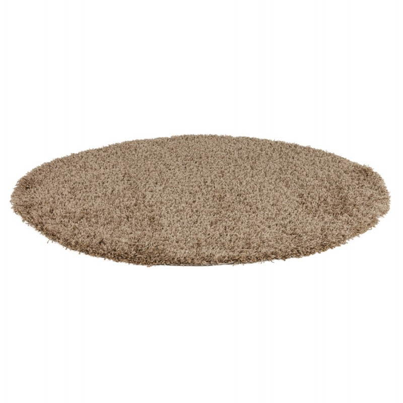 Contemporary rugs and design model large round MIKE (Ø 200 cm) (Brown) - image 20367