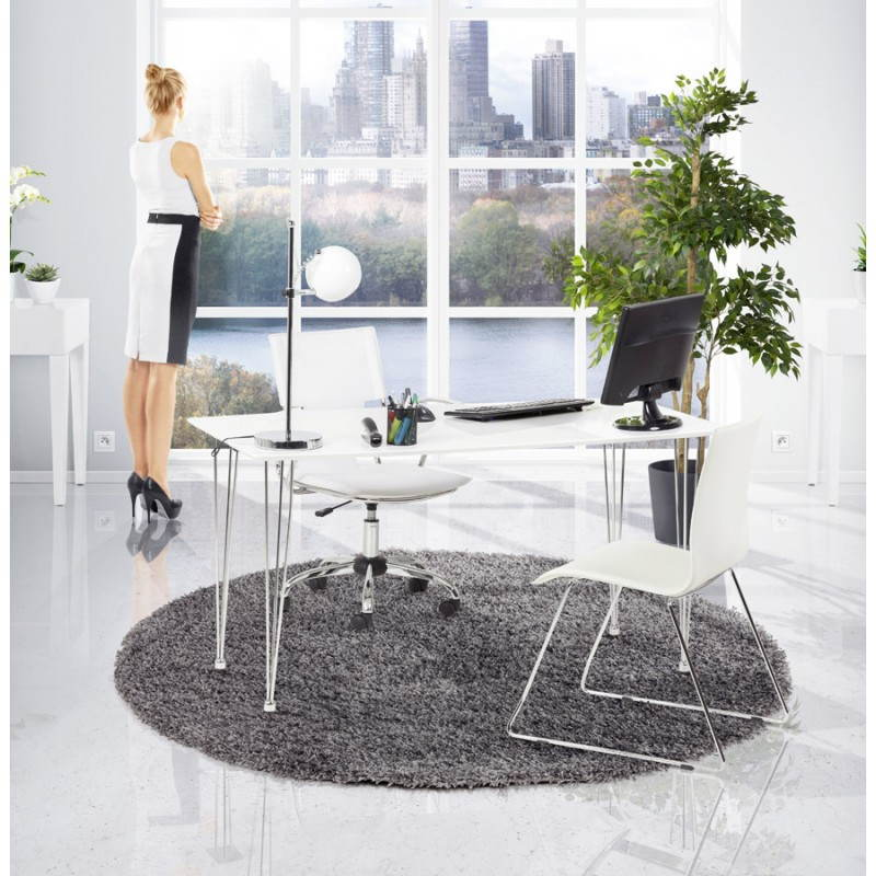 Tappeti contemporanei e design MIKE rotondo modello piccolo (Ø 160 cm) (grigio) - image 20385