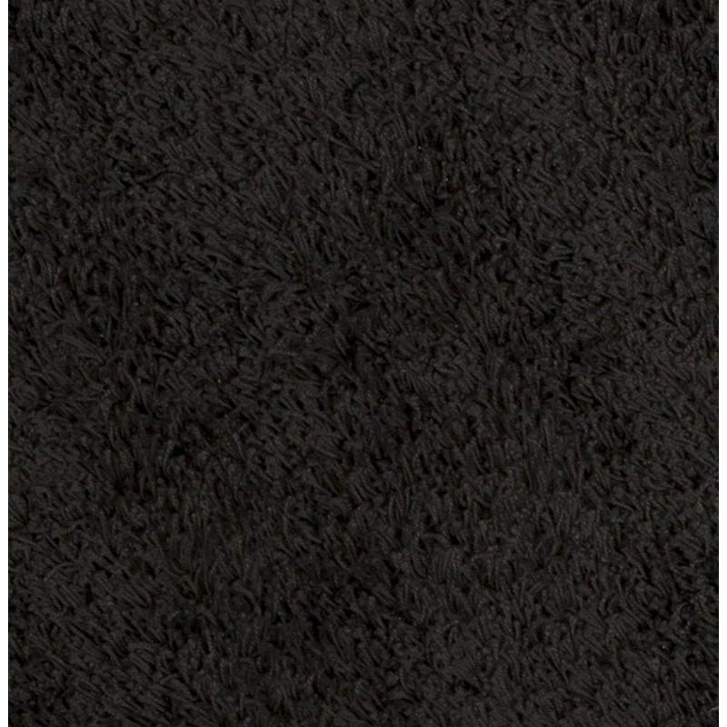 tapis rond noir tapis design rond cocoony noir 200x200 pier import tapis rond velours uni noir. Black Bedroom Furniture Sets. Home Design Ideas