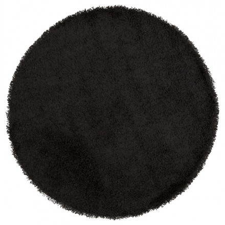 Contemporary rugs and design large round MIKE model (Ø 200 cm) (black)
