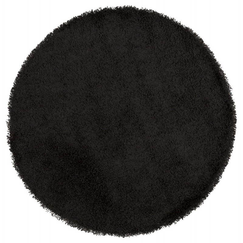 Contemporary rugs and design large round MIKE model (Ø 200 cm) (black) - image 20410