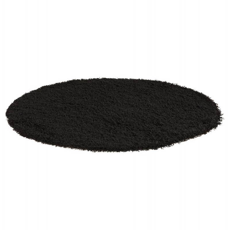 Contemporary rugs and design large round MIKE model (Ø 200 cm) (black) - image 20411