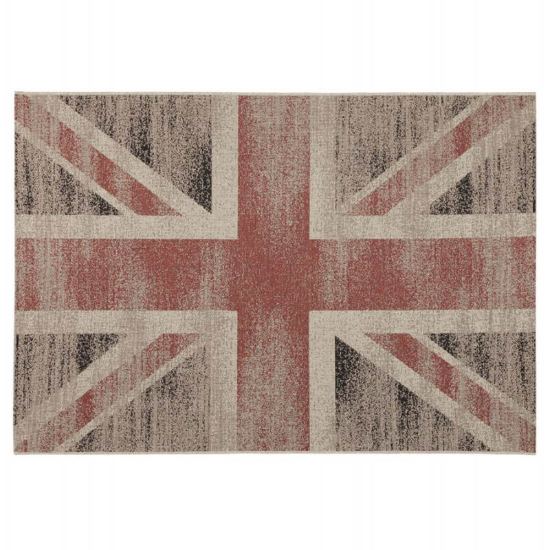 Contemporary rugs and design flag UK rectangular small model (170 X 120) (black, red, white) - image 20419