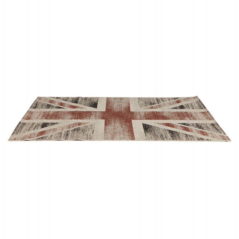 Contemporary rugs and design flag UK rectangular small model (170 X 120) (black, red, white) - image 20421