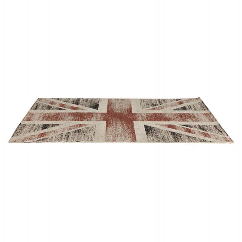Zeitgenössische Teppiche und Design kennzeichnen UK rechteckiges kleines Modell (170 X 120) (schwarz, rot, weiß) - image 20421