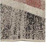 Zeitgenössische Teppiche und Design kennzeichnen UK rechteckiges kleines Modell (170 X 120) (schwarz, rot, weiß)