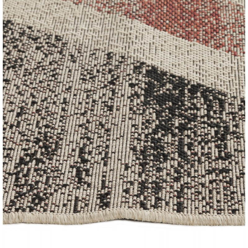 Zeitgenössische Teppiche und Design kennzeichnen UK rechteckiges kleines Modell (170 X 120) (schwarz, rot, weiß) - image 20425
