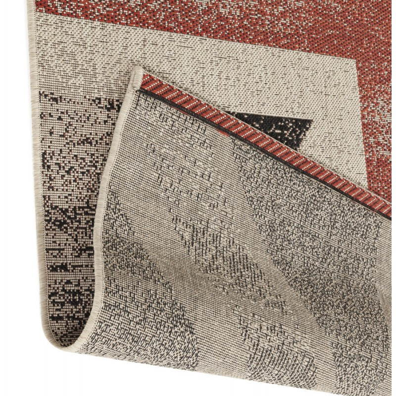 Contemporary rugs and design flag UK rectangular small model (170 X 120) (black, red, white) - image 20426