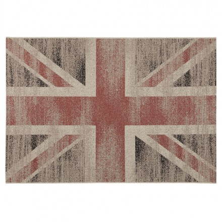 Contemporary rugs and design flag UK rectangular large model (230 X 160) (black, red, white)