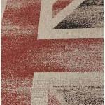 Tappeti contemporanei e design bandiera UK rettangolare grande modello (230 X 160) (nero, rosso, bianco)