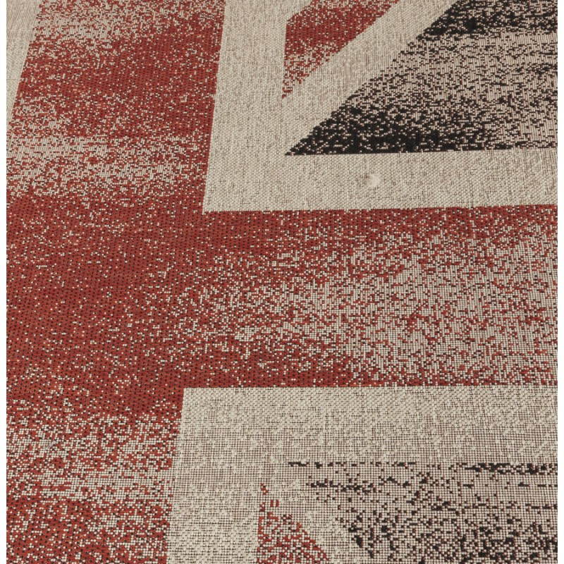 Contemporary rugs and design flag UK rectangular large model (230 X 160) (black, red, white) - image 20434