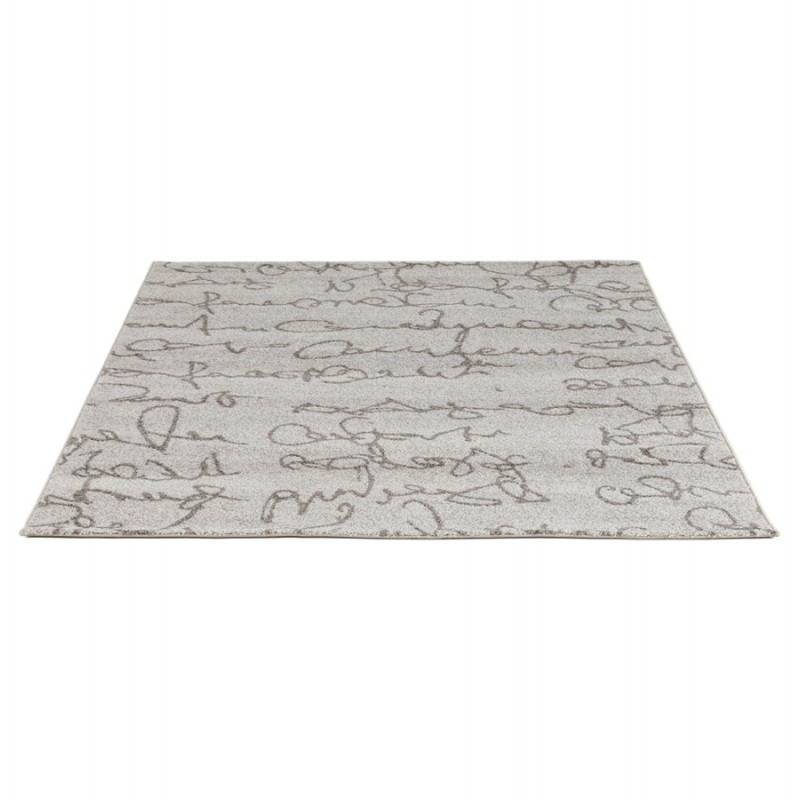 Contemporary rugs and rectangular florien design 160 x 230 beige and black for Tapis raye noir beige