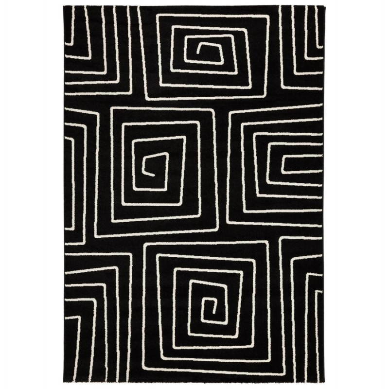 Contemporary rugs and rectangular RAFY design (160 X 230) (black, white) - image 20454