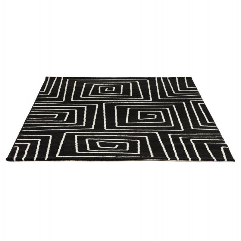 Contemporary rugs and rectangular RAFY design (160 X 230) (black, white) - image 20457