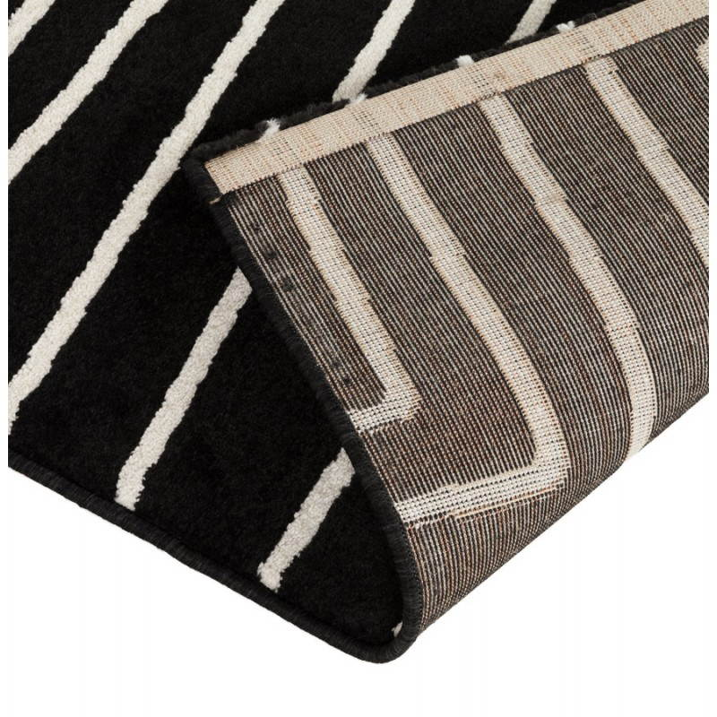 Contemporary rugs and rectangular RAFY design (160 X 230) (black, white) - image 20461
