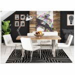 Contemporary rugs and rectangular RAFY design (160 X 230) (black, white)