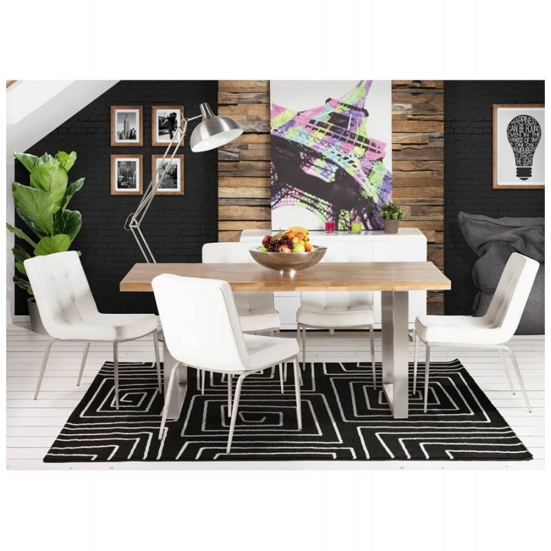 Contemporary rugs and rectangular RAFY design (160 X 230) (black, white) - image 20463