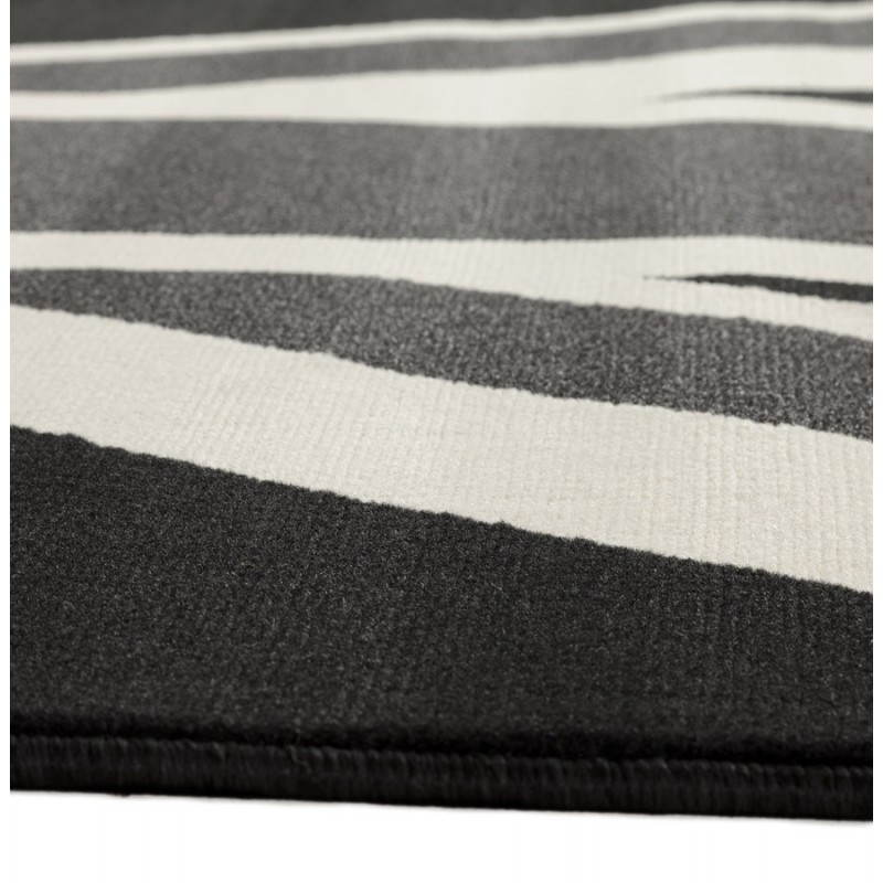 Tappeti contemporanei e design bandiera rettangolare LARA UK (nero, bianco) - image 20469