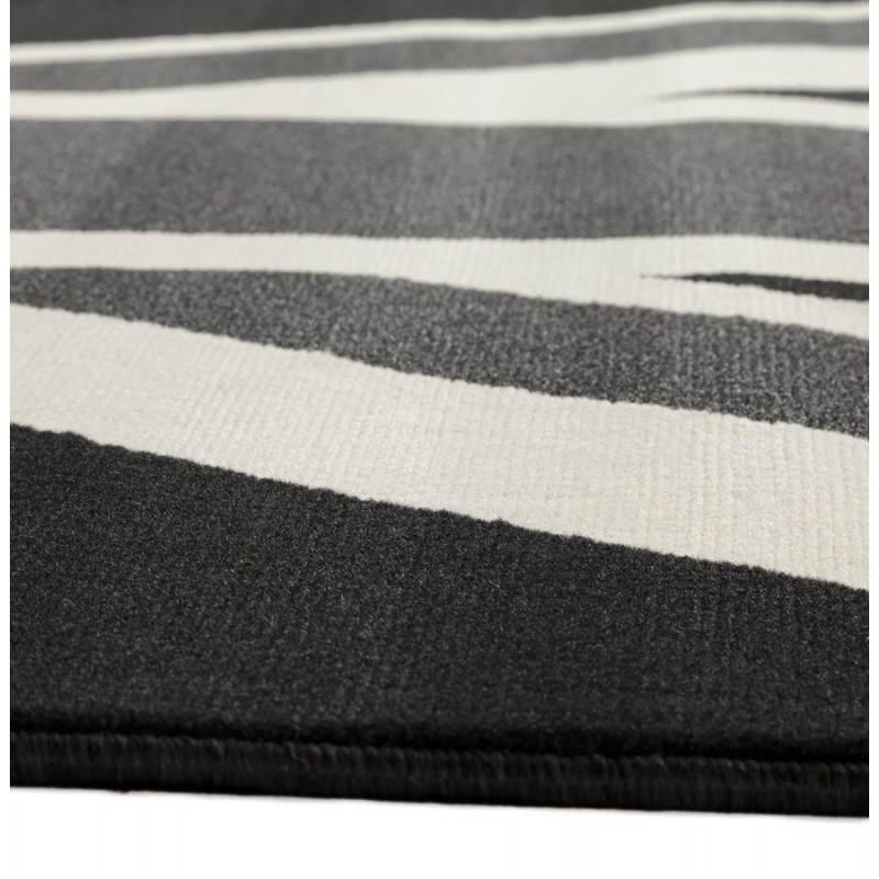 Tapis contemporain et design LARA rectangulaire drapeau UK (noir, blanc) - image 20469