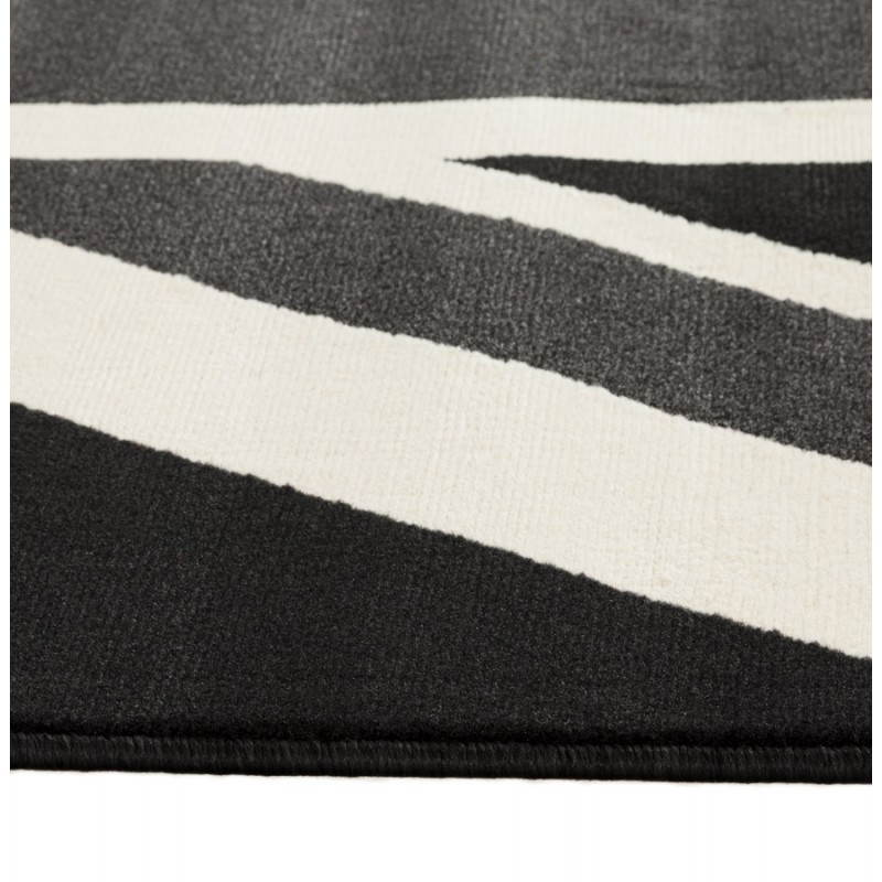 Tapis contemporain et design LARA rectangulaire drapeau UK (noir, blanc) - image 20470