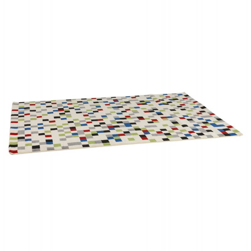 Tapis contemporain et design CARLA rectangulaire (multicolore) - image 20474