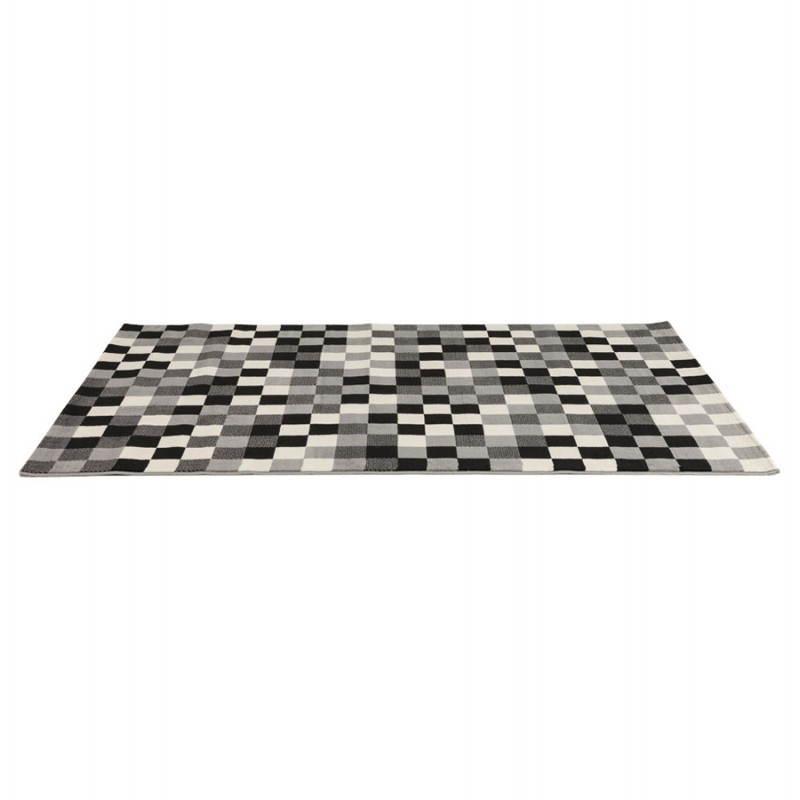 Zeitgenössische Teppiche und Design RONY rechteckig (schwarz, grau, weiß) - image 20482