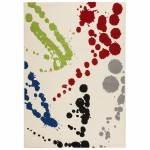 Tappeti contemporanei e design rettangolare ROUBE (multicolor)